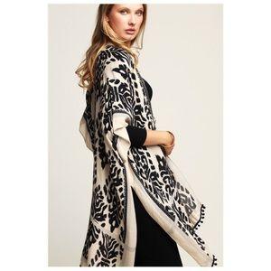 Tops - Boho Leopard Printed Kimono NWT